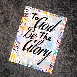 To God Be The Glory Notebook